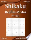 Libro de Shikaku Rejillas Mixtas   De Fácil A Difícil   Volumen 1   156 Puzzles