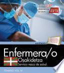 Libro de Enfermera/o. Servicio Vasco De Salud Osakidetza. Temario. Vol.iv