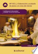 Libro de Elaboración Y Acabado De Platos A La Vista Del Cliente. Hotr0608