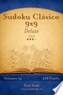 Libro de Sudoku Clásico 9×9 Deluxe   Difícil   Volumen 54   468 Puzzles