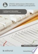 Libro de Aplicaciones Informáticas De Análisis Contable Y Presupuestos. Adgn0108