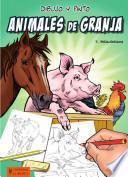 Libro de Dibujo Y Pinto Animales De Granja