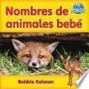 Libro de Nombres De Animales Bebé