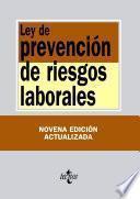 Libro de Ley De Prevención De Riesgos Laborales