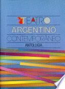 Libro de Teatro Argentino Contemporáneo