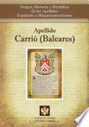 Libro de Apellido Carrió (baleares)