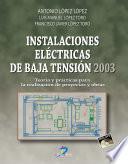 Libro de Instalaciones Eléctricas De Baja Tensión 2003