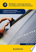 Libro de Montaje Eléctrico De Instalaciones Solares Térmicas. Enae0208