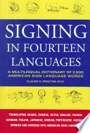 Libro de Signing In Fourteen Languages