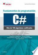Libro de Fundamentos De Programación C# (100 Algoritmos Codificados)