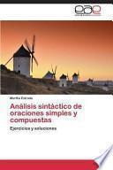 Libro de Análisis Sintáctico De Oraciones Simples Y Compuestas