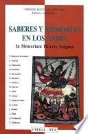 Libro de Saberes Y Memorias En Los Andes