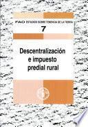 Libro de Descentralizacion E Impuesto Predial Rural