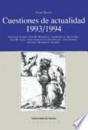 Libro de Cuestiones De Actualidad, 1993 1994