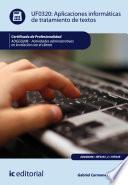 Libro de Aplicaciones Informáticas De Tratamiento De Textos. Adgg0208   Actividades Administrativas En La Relación Con El Cliente