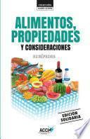 Libro de Alimentos, Propiedades Y Consideraciones