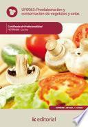 Libro de Preelaboración Y Conservación De Vegetales Y Setas. Hotr0408