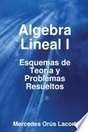 Libro de Algebra Lineal I   Esquemas De Teoría Y Problemas Resueltos