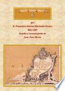 Libro de Plano De Las Islas De Canaria. Por D. Francisco Xavier Machado Fiesco. Año 1762