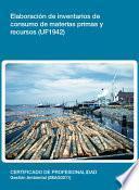 Libro de Uf1942   Elaboración De Inventarios De Consumo De Materias Primas Y Recursos