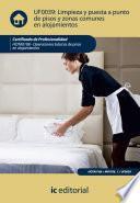 Libro de Limpieza Y Puesta A Punto De Pisos Y Zonas Comunes En Alojamientos. Hota0108