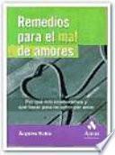 Libro de Remedios Para El Mal De Amores