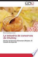 Libro de La Industria De Conservas De Chutney