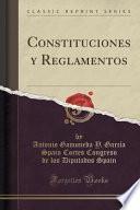 Libro de Constituciones Y Reglamentos (classic Reprint)