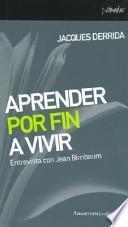 Libro de Aprender Por Fin A Vivir