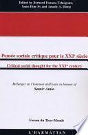 Libro de Critical Social Thought For The Xxist Century