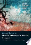 Libro de Manual Oxford De Filosofía En Educación Musical