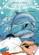 Libro de Dibujo Y Pinto Animales Marinos
