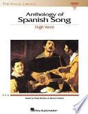 Libro de Anthology Of Spanish Song