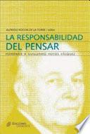 Libro de La Responsabilidad Del Pensar