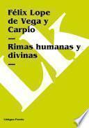 Libro de Rimas Humanas Y Divinas