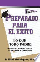 Libro de Preparado Para El Éxito: