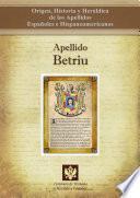 Libro de Apellido Betriu