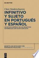 Libro de Infinitivo Y Sujeto En Portugués Y Español